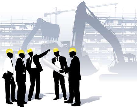 architecten op een bouwplaats
