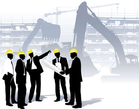 civil engineers: architects on a construction site