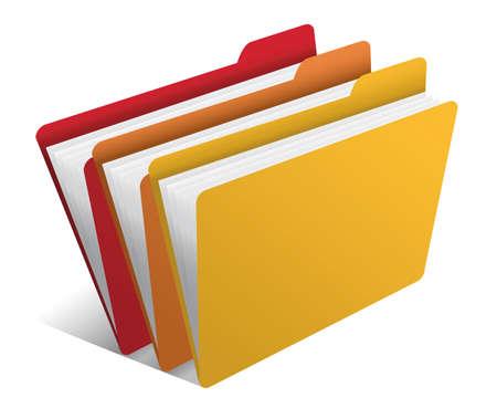carpeta con los documentos Ilustración de vector