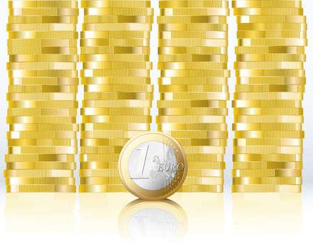 Euro coin Banco de Imagens - 12304462