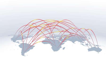 wereldwijd netwerk Stock Illustratie