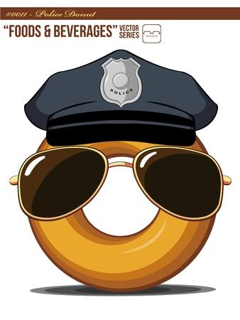 Police Donut Illustration