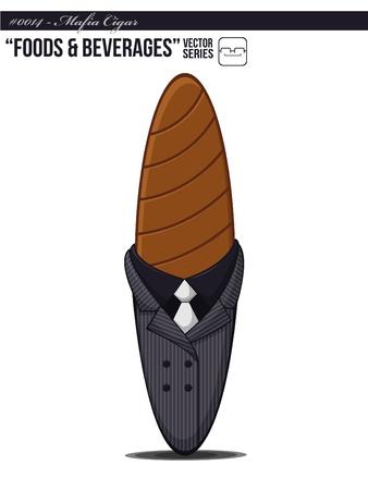 kingpin: Mafia Cigar Illustration
