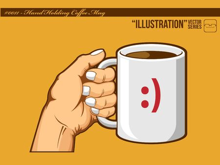 savor: Illustration #0011 - Hand Holding Coffee Mug