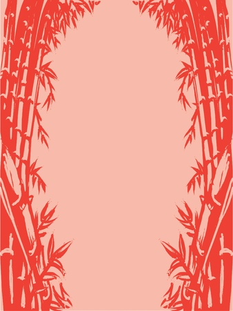 Background Sketch of Oriental Bamboo Stock Vector - 16899834