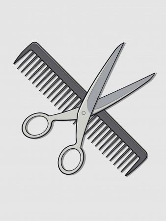 Barber Scissor and Comb