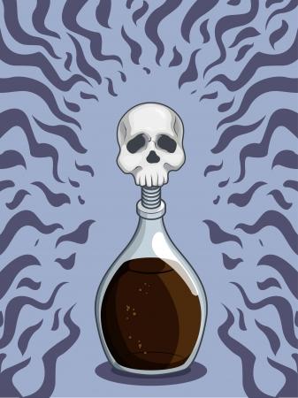 poison bottle: Bottiglia di Veleno Morte Vettoriali