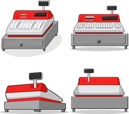 Cashier Machine Vector