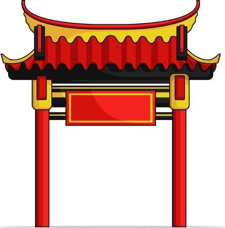 verjas: Puerta del chino Vectores