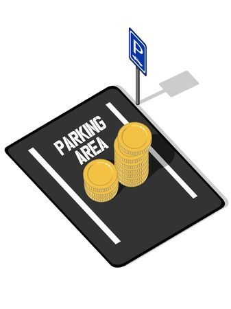 car parking: Coins on Parking Lot (Increasing Price of Parking Space)