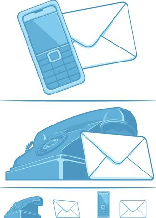 Contact Us Symbol - Phone & Mail Stock Vector - 16899882