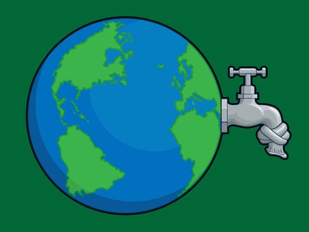 save the planet: Earth Water Problem Illustration