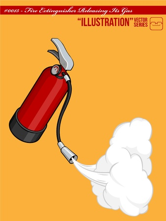 Fire Extinguisher Releasing Its Gas