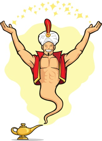 Genie Granting The Wish