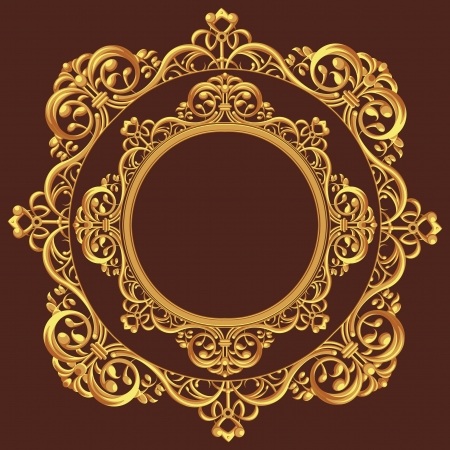 Golden Circle Ornament Vector