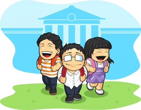 Kids Going Back to School Stock Vector - 16899926