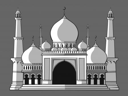 prayer tower: Masjid Illustration