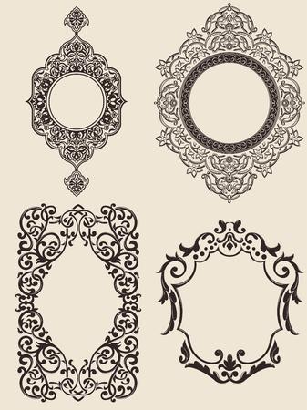 Ornaments Set  イラスト・ベクター素材