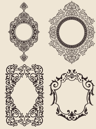 victorian style: Ornaments Set Illustration