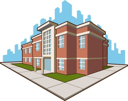School Building Stock Vector - 16899860