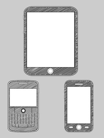 Smartphone Sketch Vector
