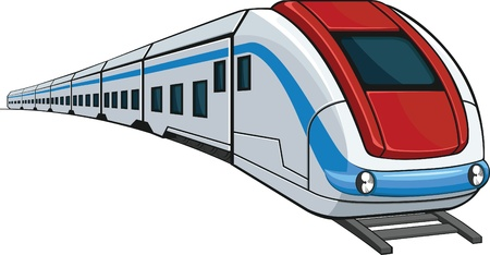 treno espresso: Treno Vettoriali