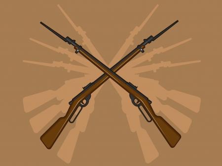 bayonet: World War II Rifle with Bayonet