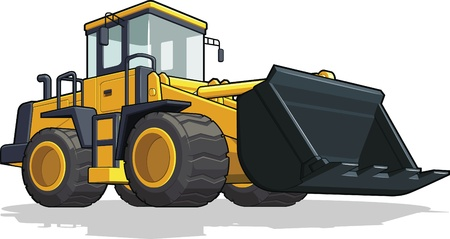 Bulldozer Stock Vector - 18758840