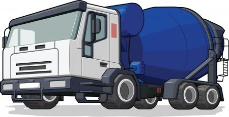 cement truck: Cement Mixer Truck