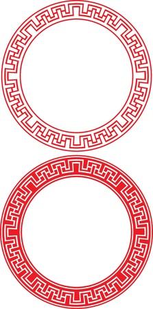 Chinese Circle Ornament  イラスト・ベクター素材