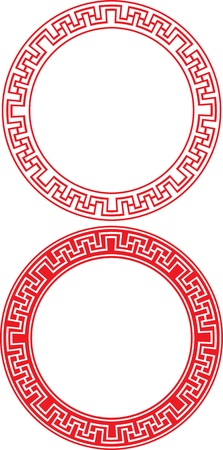 chinese symbol: Chinese Circle Ornament Illustration