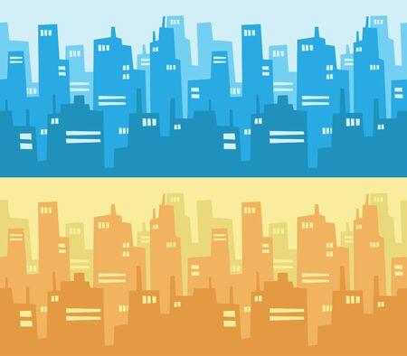 cartoon house: City Skyscraper Silhouette Background