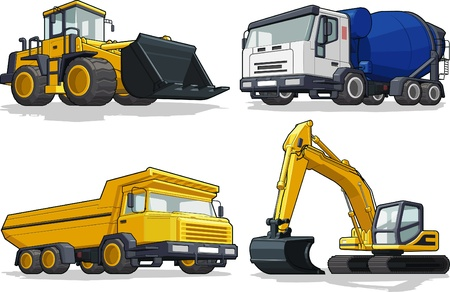 Construction Machine - Bulldozer, Cement Truck, Haul truck  Excavator