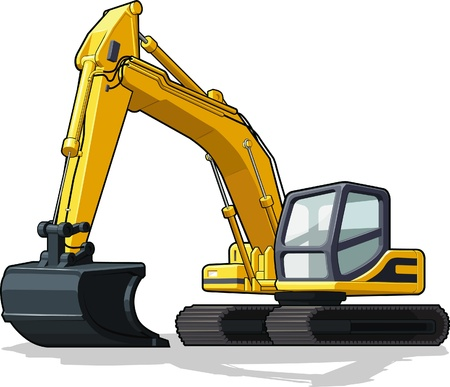 equipments: Excavator Illustration