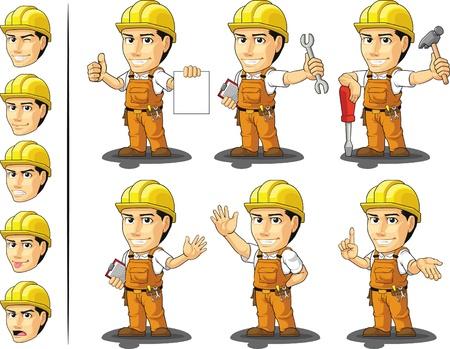 Industrial Construction Worker Mascot