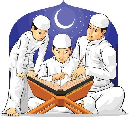 preschool teacher: Kids Learn to Read Al-Quran with Their Parent