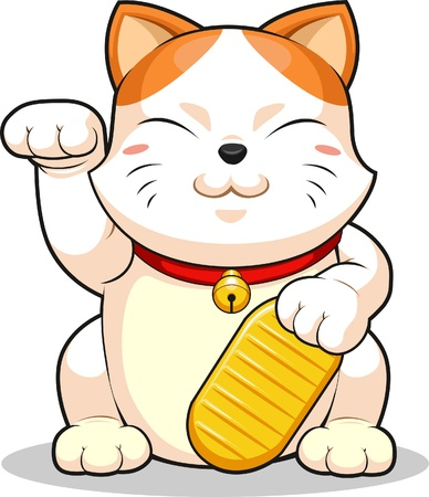 Lucky Cat (Makeni Neko) Vector