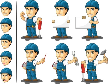 tool belt: Technician or Repairman Mascot