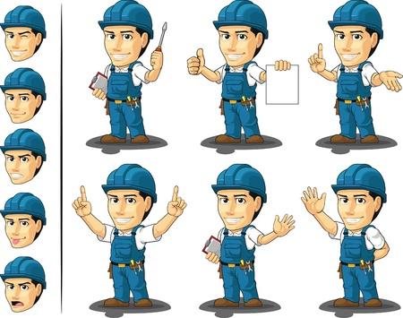 Technician or Repairman Mascot  Vector