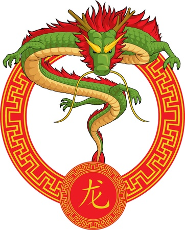 traditional oriental culture: Chinese Zodiac Animal - Dragon