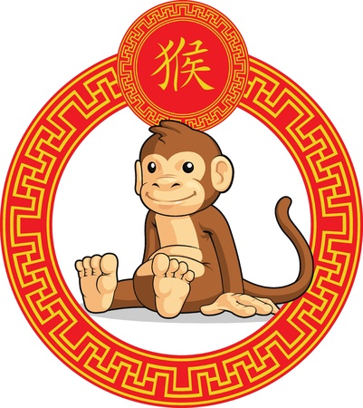 Chinese Zodiac Animal - Monkey Vector