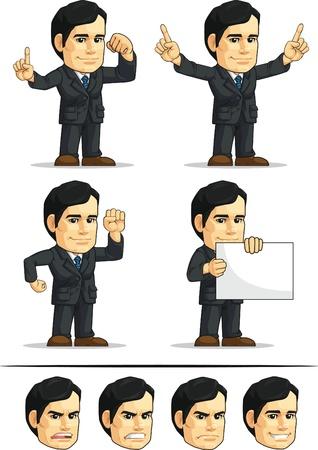 ballen: Gesch�ftsmann oder Office Vorstand Anpassbare Mascot 2