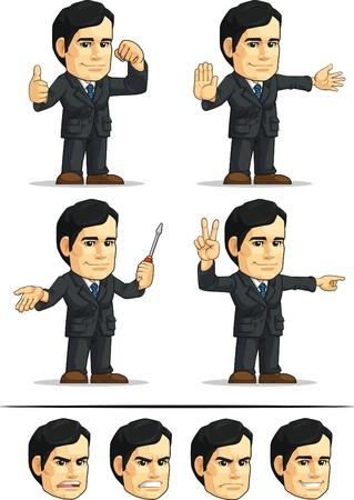 ballen: Gesch�ftsmann oder Office Vorstand Anpassbare Maskottchen 4 Illustration