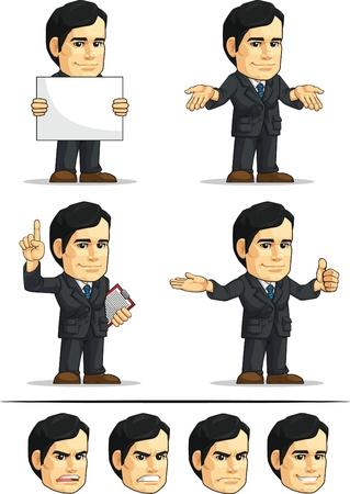 customizable: Businessman or Office Executive Customizable Mascot 8