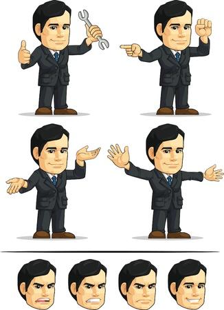 ballen: Gesch�ftsmann oder Office Vorstand Anpassbare Mascot 10