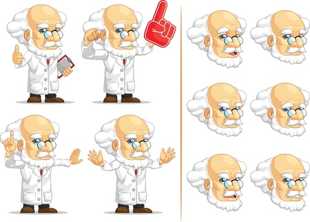 middle aged man: Scientist or Professor Customizable Mascot 4