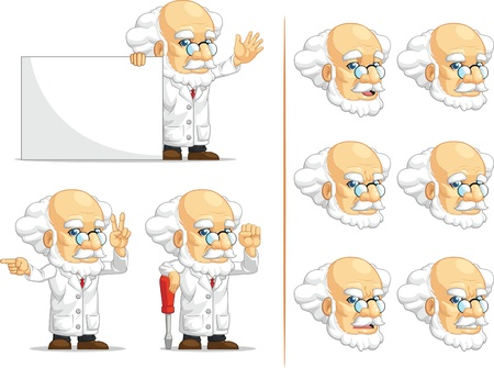 mathematician: Scientist or Professor Customizable Mascot 5 Illustration
