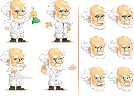 Scientist or Professor Customizable Mascot 10