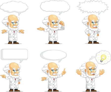 Scientist or Professor Customizable Mascot 15 Illustration
