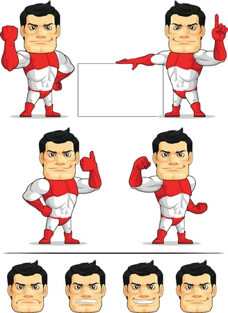 Superhero Customizable Mascot 2 Vector